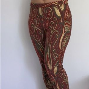Pants - Ruffian printed silk pants brocade made in USA
